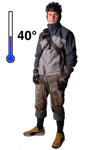 How to dress for temperatures in the 40°'s F range